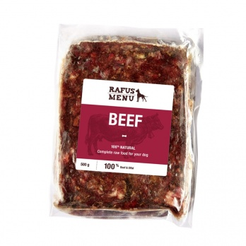 COMPLETE BEEF RAW FOOD FOR DOG