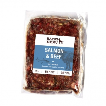 COMPLETE SALMON AND BEEF RAW FOOD