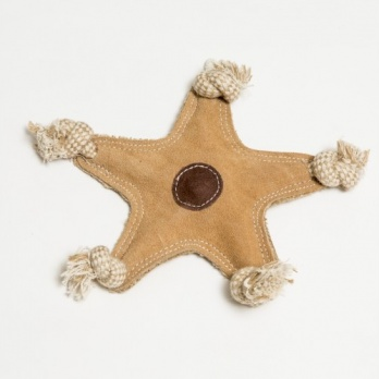 "Natural suede leather toy ""star"""