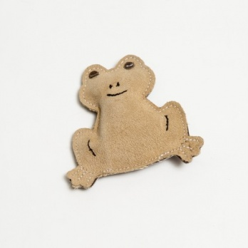 "Natural suede leather toy ""little frog"""