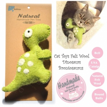 Toys Dinosaur Cat Toys with Bell Felt Wool Catnip